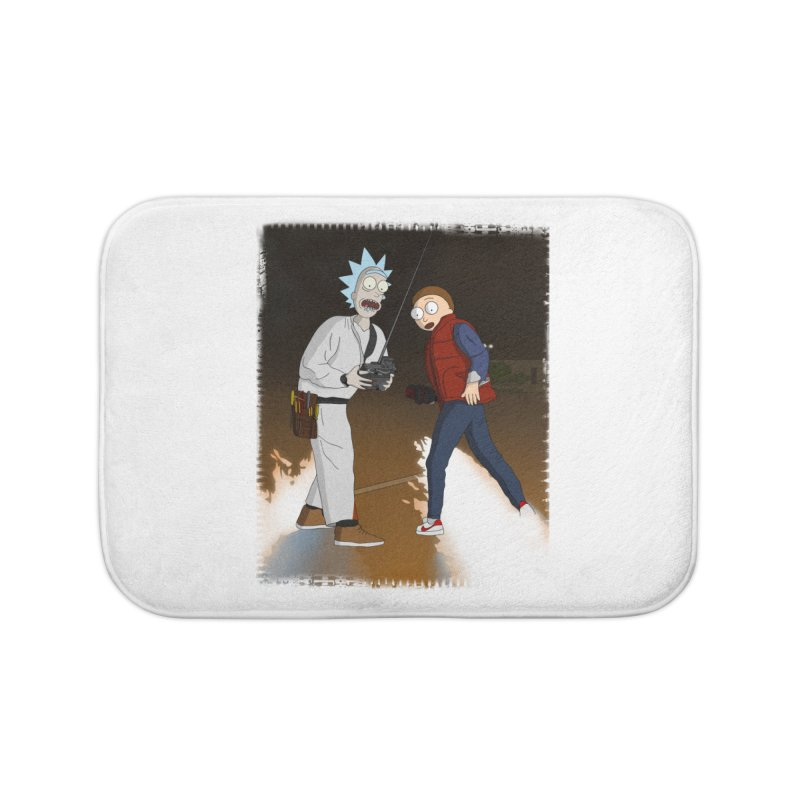 Back to the Future: Outatime Home Bath Mat by City of Pyramids's Artist Shop