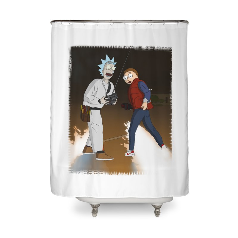 Back to the Future: Outatime Home Shower Curtain by City of Pyramids's Artist Shop