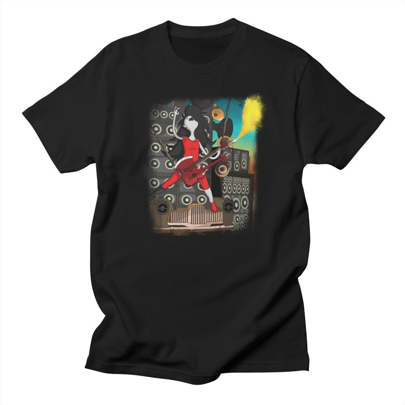 THE FLAMETHROWING GUITAR in Men's Regular T-Shirt Black by City of Pyramids's Artist Shop