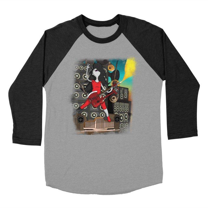 THE FLAMETHROWING GUITAR Men's Baseball Triblend Longsleeve T-Shirt by City of Pyramids's Artist Shop