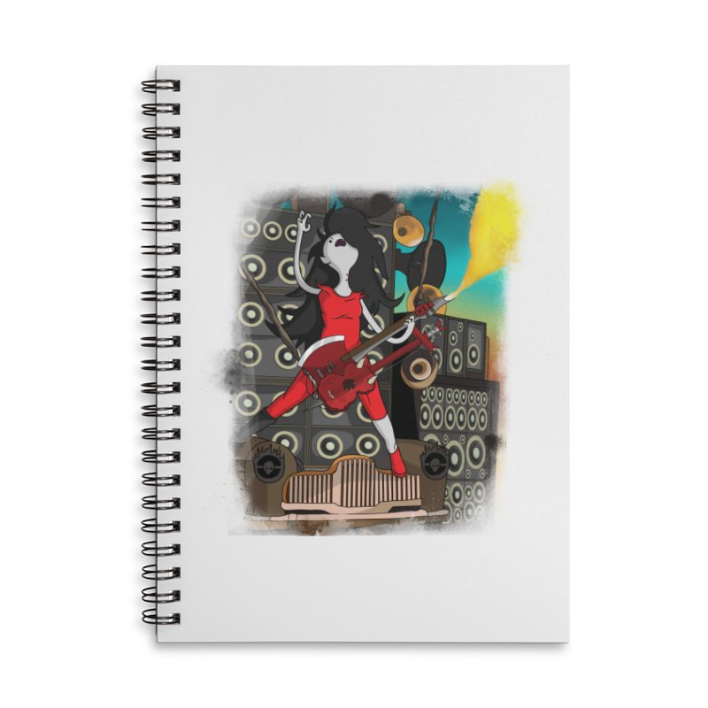 THE FLAMETHROWING GUITAR Accessories Notebook by City of Pyramids's Artist Shop