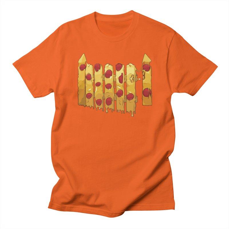 Pizza Fence Men's Regular T-Shirt by City of Pyramids's Artist Shop