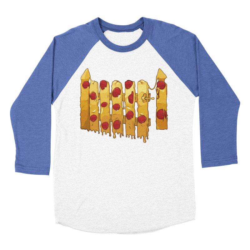 Pizza Fence Men's Baseball Triblend Longsleeve T-Shirt by City of Pyramids's Artist Shop