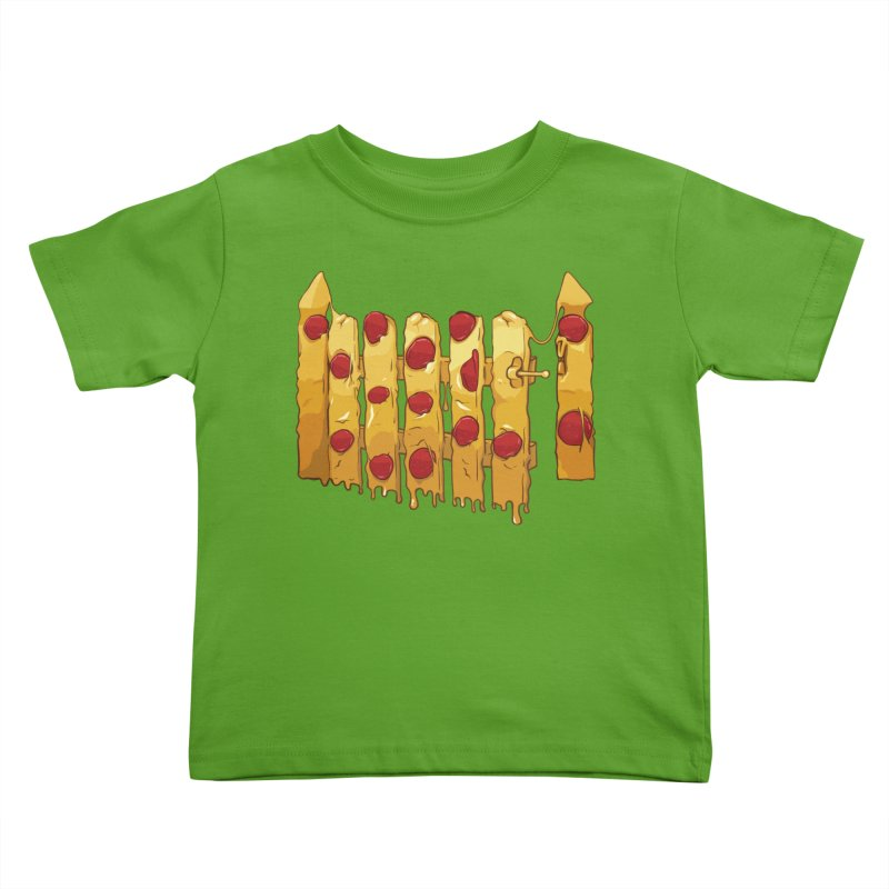 Pizza Fence Kids Toddler T-Shirt by City of Pyramids's Artist Shop