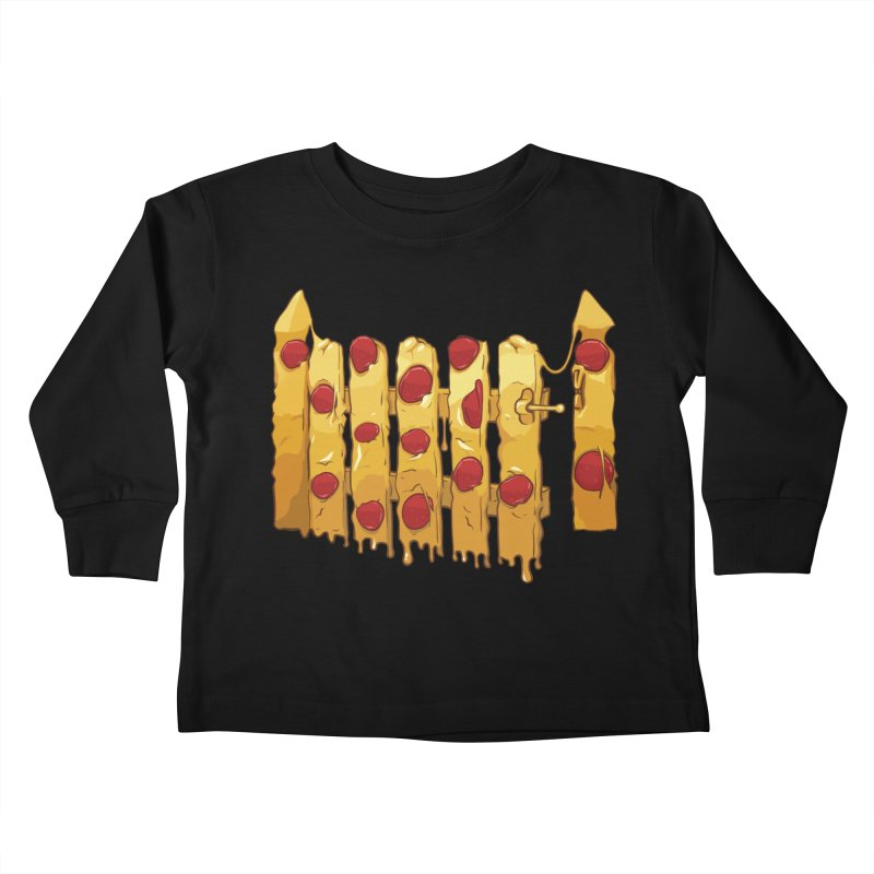 Pizza Fence Kids Toddler Longsleeve T-Shirt by City of Pyramids's Artist Shop