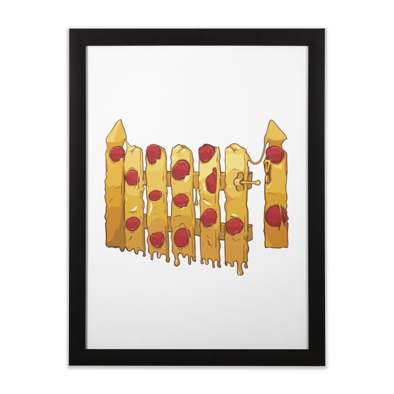 Pizza Fence Home Framed Fine Art Print by City of Pyramids's Artist Shop