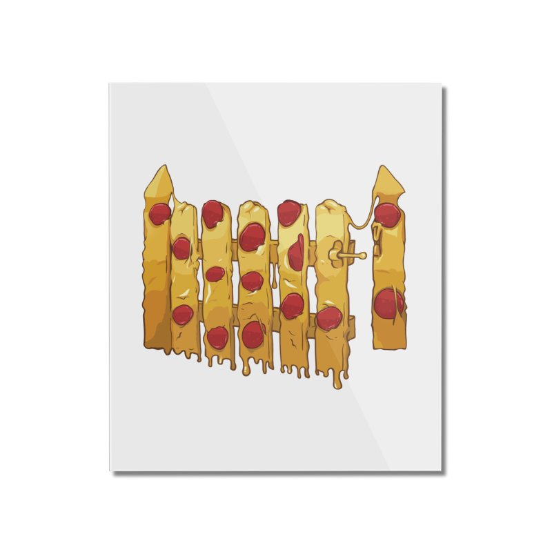 Pizza Fence Home Mounted Acrylic Print by City of Pyramids's Artist Shop