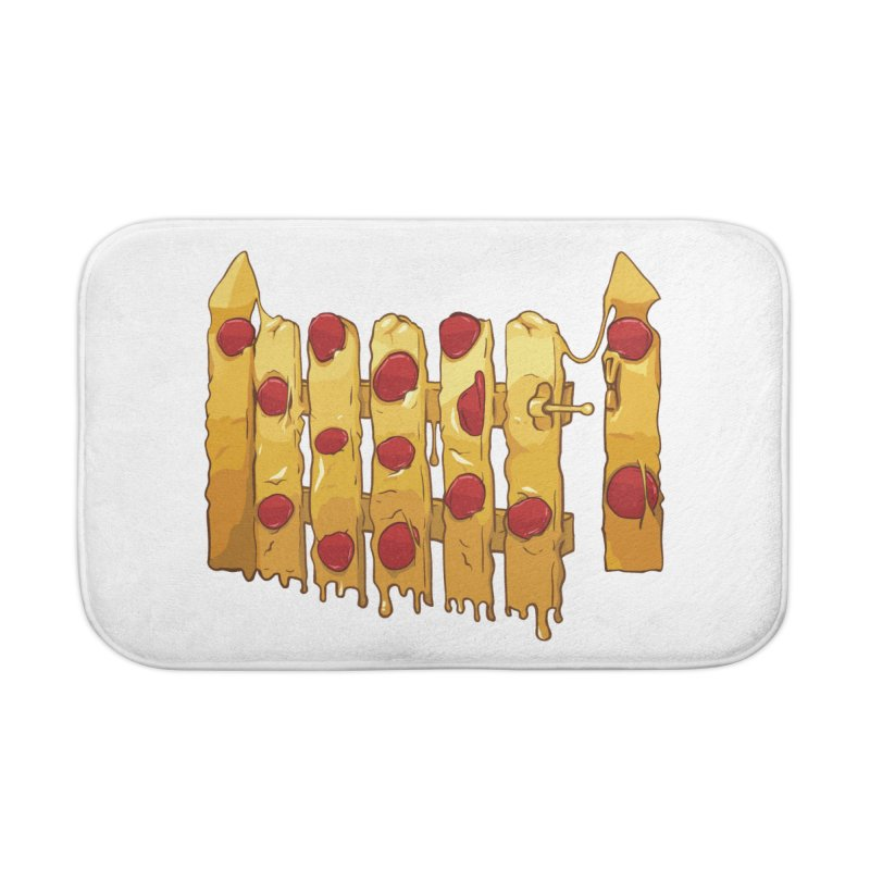 Pizza Fence Home Bath Mat by City of Pyramids's Artist Shop
