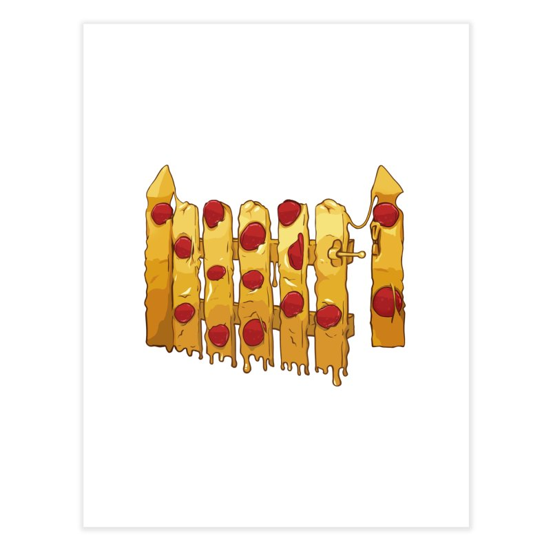 Pizza Fence Home Fine Art Print by City of Pyramids's Artist Shop