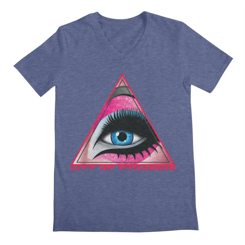 Eyeconic Drag Men's V-Neck by City of Pyramids's Artist Shop