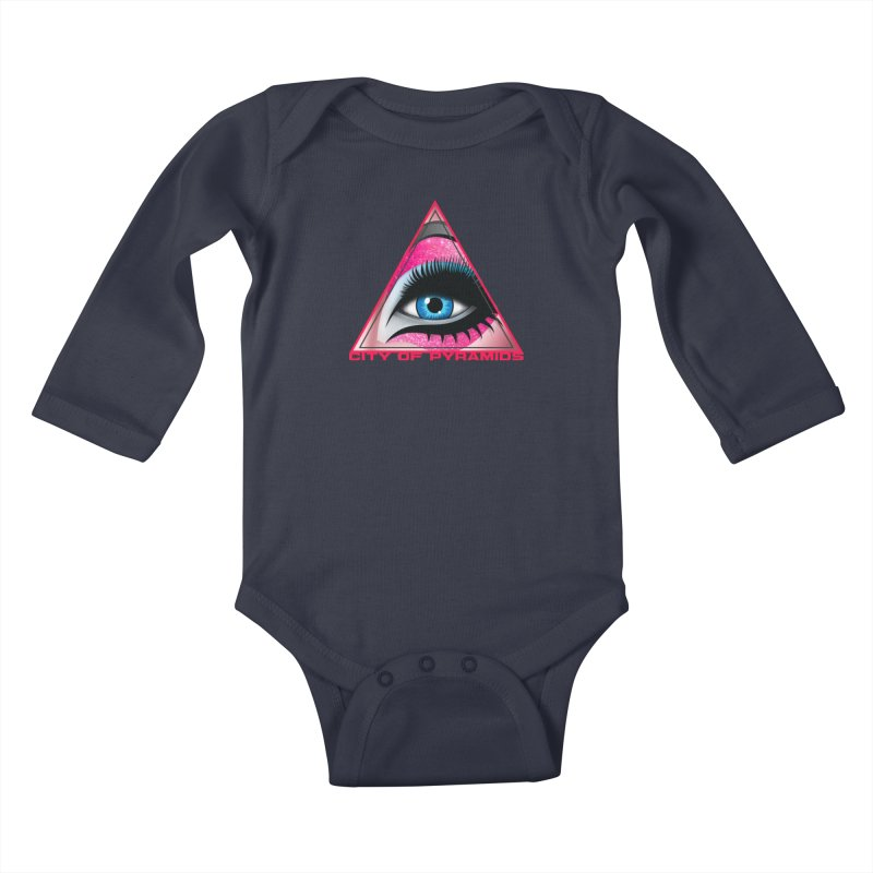 Eyeconic Drag Kids Baby Longsleeve Bodysuit by City of Pyramids's Artist Shop