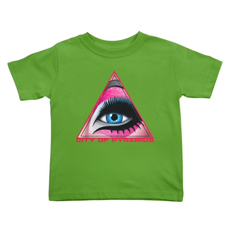 Eyeconic Drag Kids Toddler T-Shirt by City of Pyramids's Artist Shop