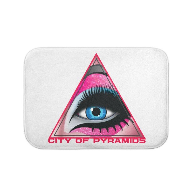 Eyeconic Drag Home Bath Mat by City of Pyramids's Artist Shop
