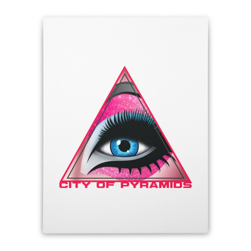 Eyeconic Drag Home Stretched Canvas by City of Pyramids's Artist Shop