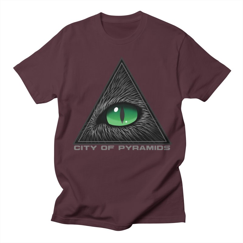 Eyecoic Cat Eye Men's Regular T-Shirt by City of Pyramids's Artist Shop