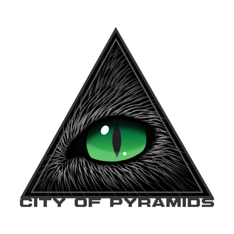 Eyecoic Cat Eye Men's Longsleeve T-Shirt by City of Pyramids's Artist Shop