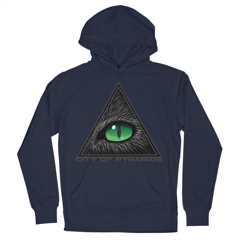 Eyecoic Cat Eye Men's Pullover Hoody by City of Pyramids's Artist Shop