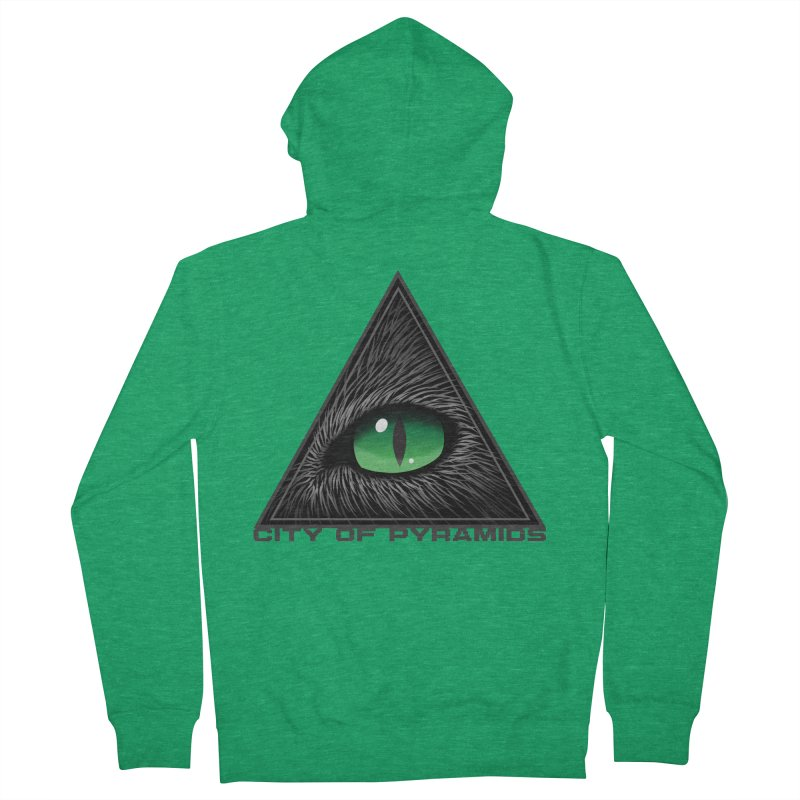 Eyecoic Cat Eye Men's Zip-Up Hoody by City of Pyramids's Artist Shop