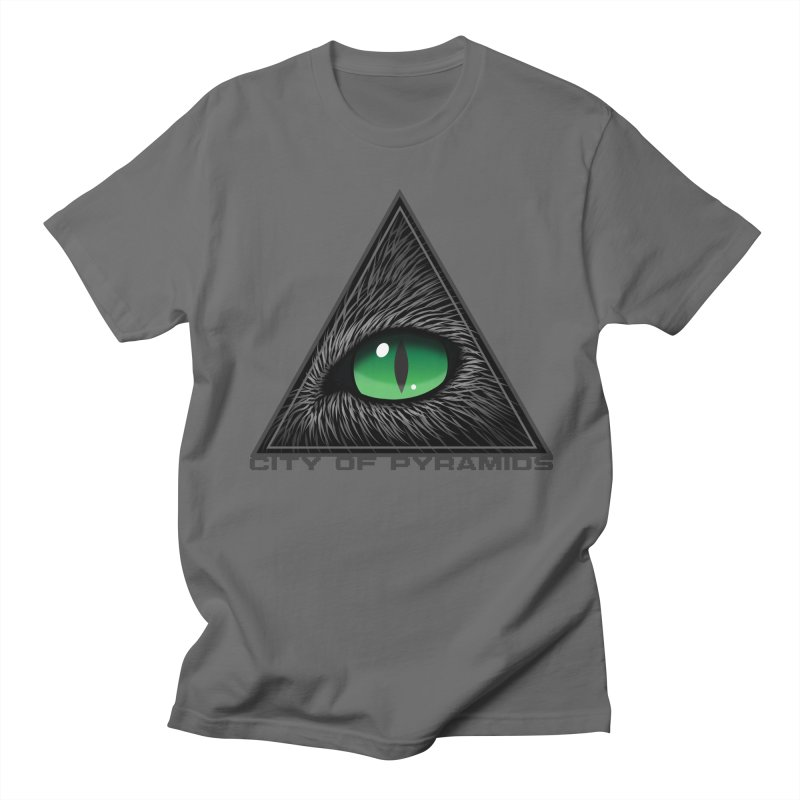 Eyecoic Cat Eye Men's T-Shirt by City of Pyramids's Artist Shop