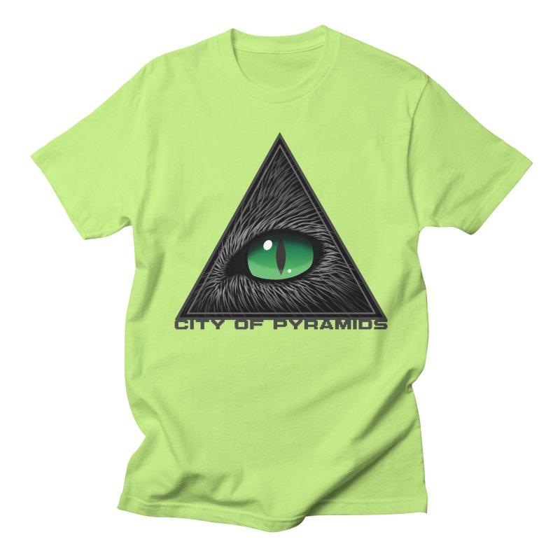 Eyecoic Cat Eye Men's T-Shirt by City of Pyramids's Artist Shop