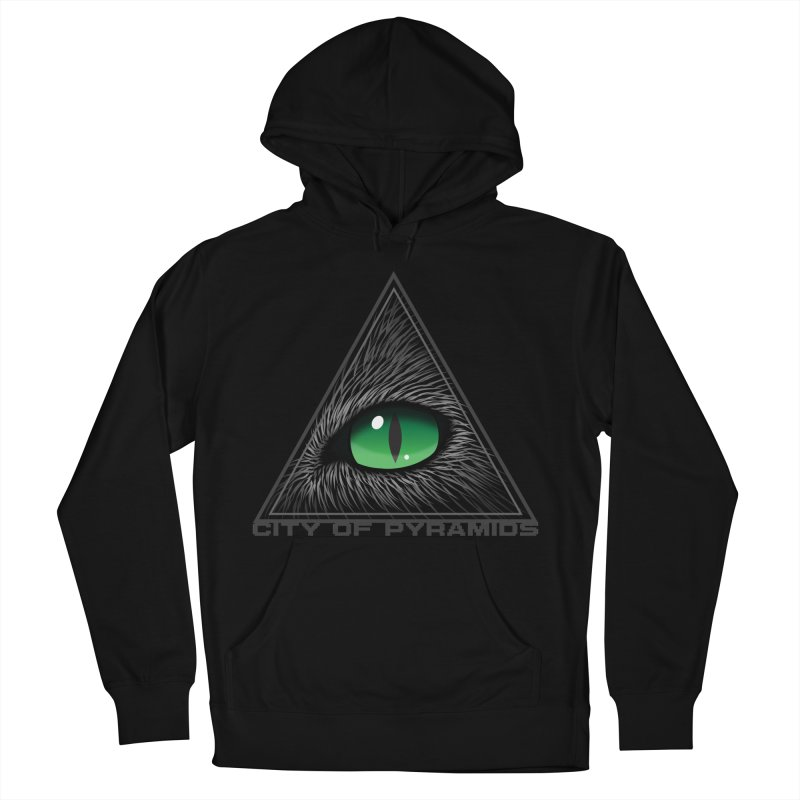 Eyecoic Cat Eye Women's French Terry Pullover Hoody by City of Pyramids's Artist Shop