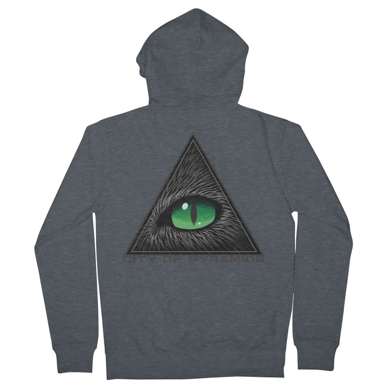 Eyecoic Cat Eye Women's French Terry Zip-Up Hoody by City of Pyramids's Artist Shop