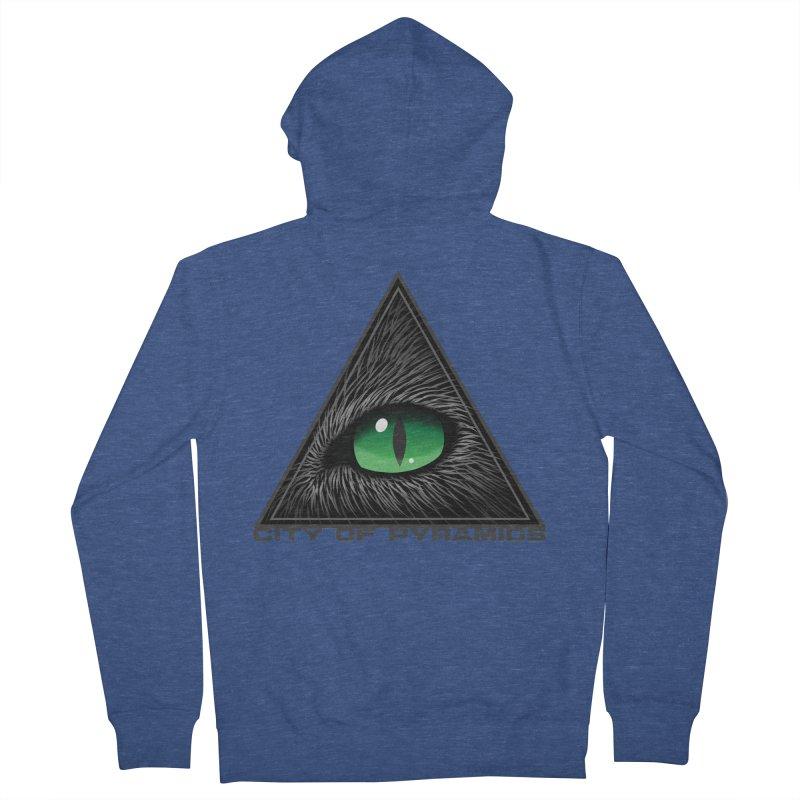 Eyecoic Cat Eye Men's Zip-Up Hoody by City of Pyramids's Artist Shop