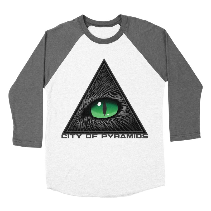 Eyecoic Cat Eye Women's Baseball Triblend Longsleeve T-Shirt by City of Pyramids's Artist Shop