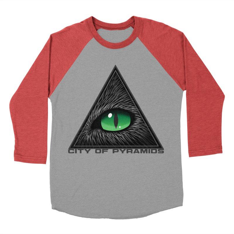 Eyecoic Cat Eye Women's Baseball Triblend Longsleeve T-Shirt by City of Pyramids's Artist Shop