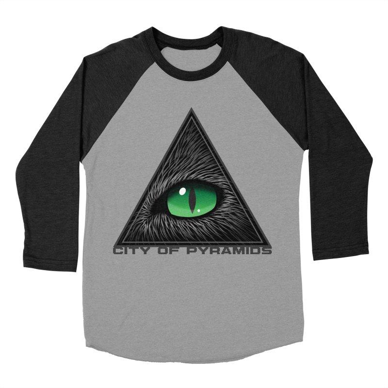 Eyecoic Cat Eye Men's Baseball Triblend Longsleeve T-Shirt by City of Pyramids's Artist Shop
