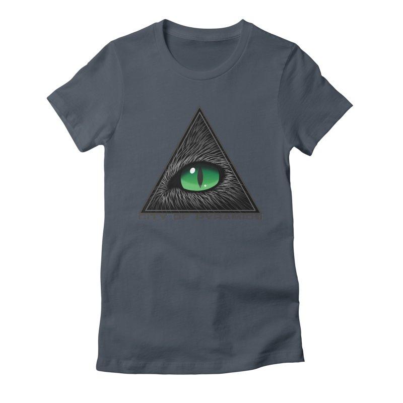 Eyecoic Cat Eye Women's T-Shirt by City of Pyramids's Artist Shop