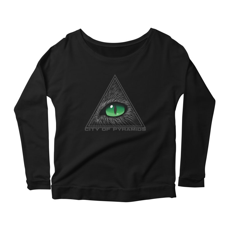 Eyecoic Cat Eye Women's Scoop Neck Longsleeve T-Shirt by City of Pyramids's Artist Shop