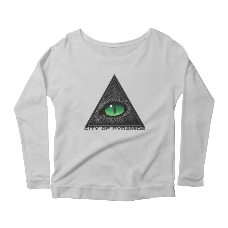 Eyecoic Cat Eye Women's Scoop Neck Longsleeve T-Shirt by City of Pyramids's Artist Shop