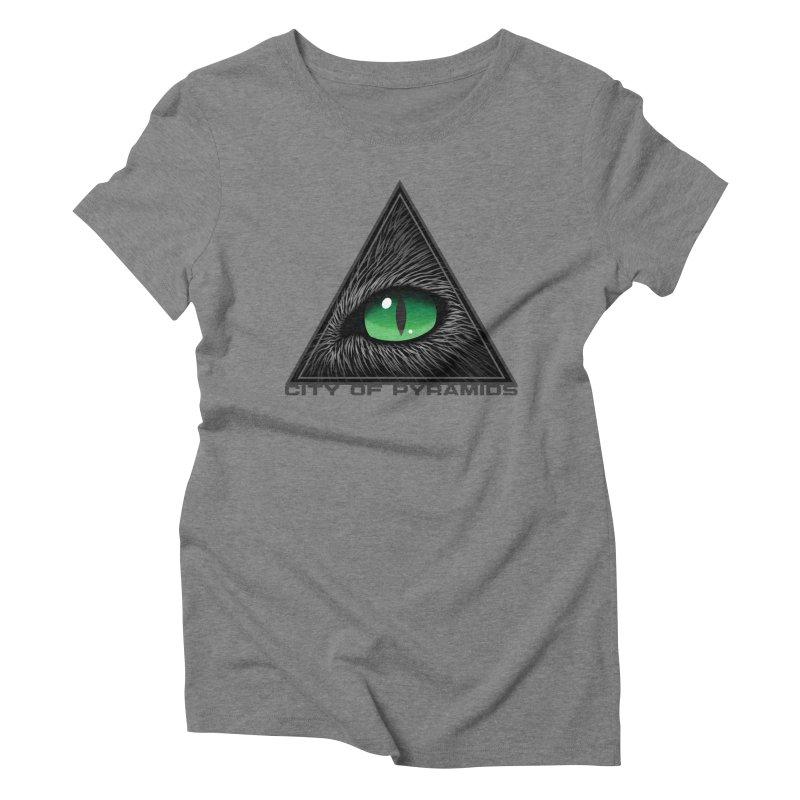 Eyecoic Cat Eye Women's Triblend T-Shirt by City of Pyramids's Artist Shop