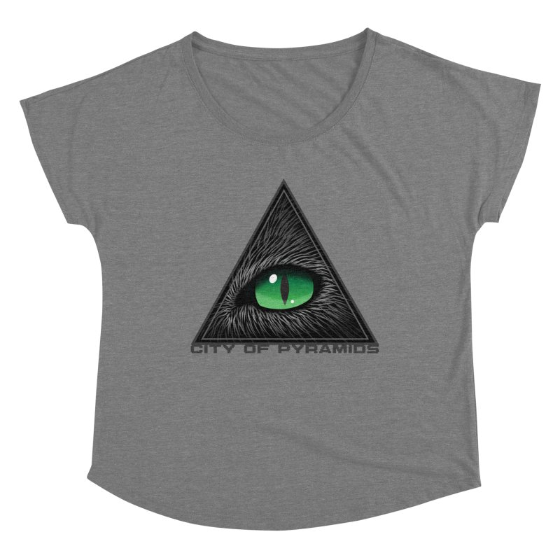 Eyecoic Cat Eye Women's Scoop Neck by City of Pyramids's Artist Shop