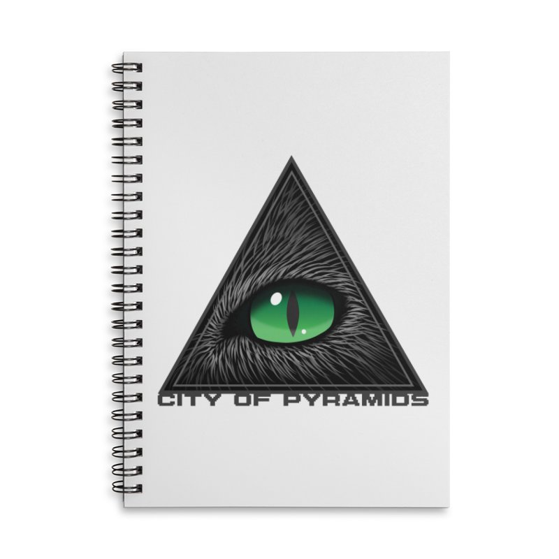 Eyecoic Cat Eye Accessories Lined Spiral Notebook by City of Pyramids's Artist Shop
