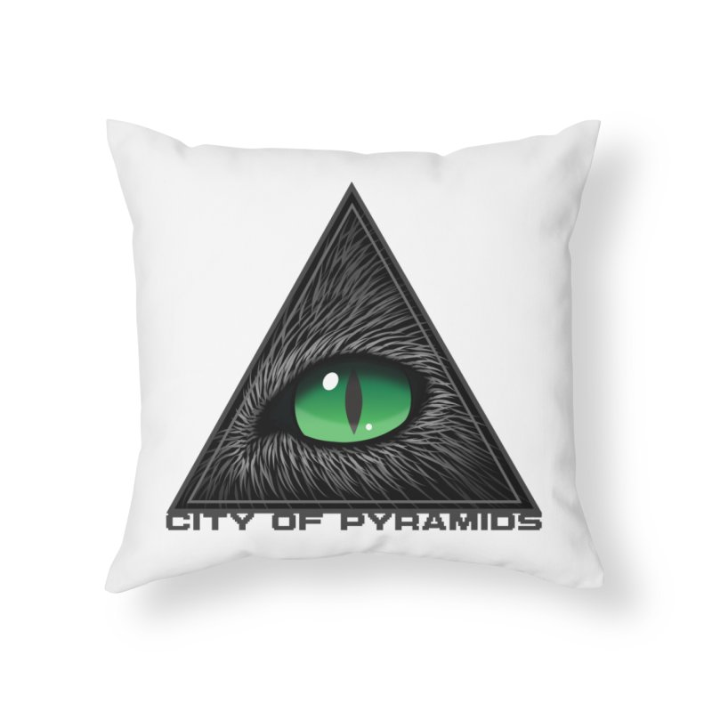 Eyecoic Cat Eye Home Throw Pillow by City of Pyramids's Artist Shop