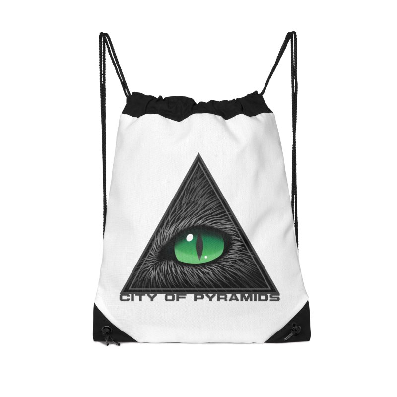 Eyecoic Cat Eye Accessories Drawstring Bag Bag by City of Pyramids's Artist Shop
