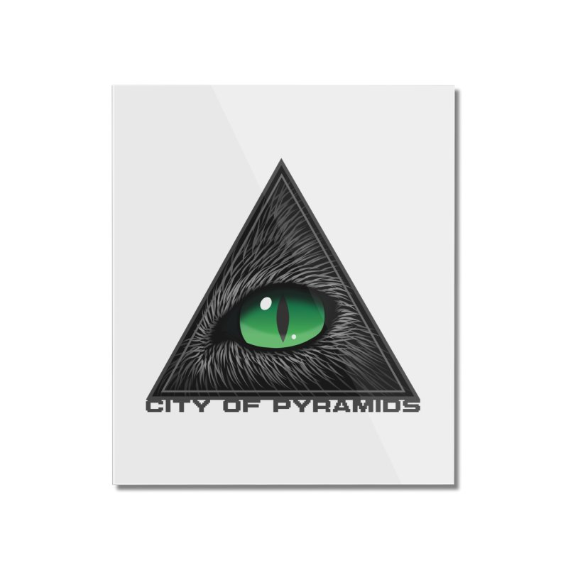 Eyecoic Cat Eye Home Mounted Acrylic Print by City of Pyramids's Artist Shop