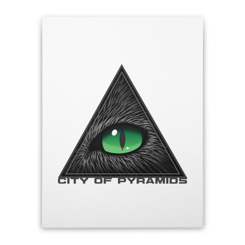 Eyecoic Cat Eye Home Stretched Canvas by City of Pyramids's Artist Shop