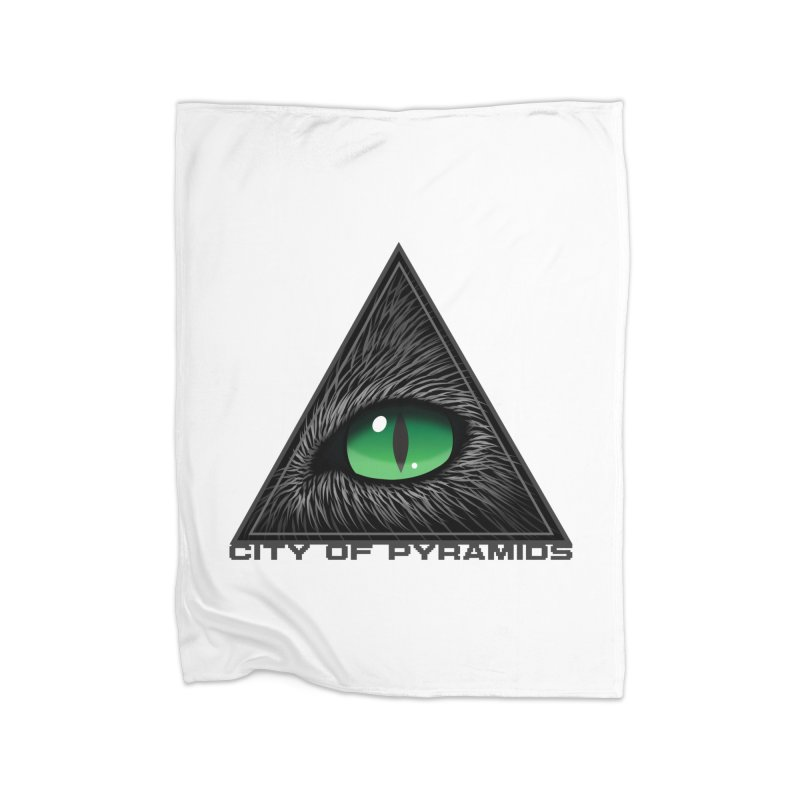 Eyecoic Cat Eye Home Fleece Blanket Blanket by City of Pyramids's Artist Shop