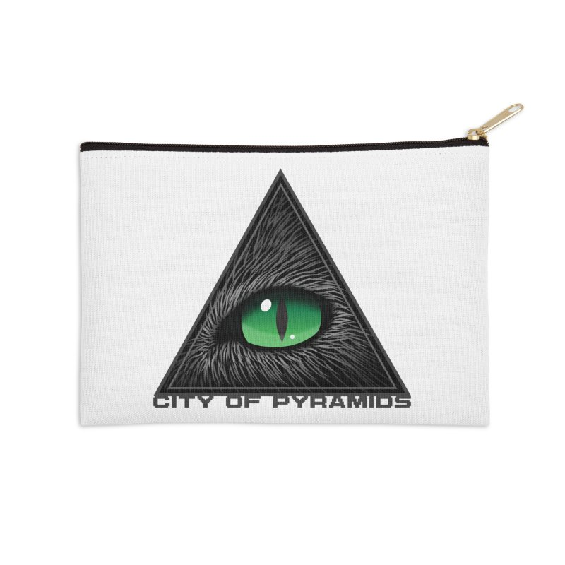 Eyecoic Cat Eye Accessories Zip Pouch by City of Pyramids's Artist Shop