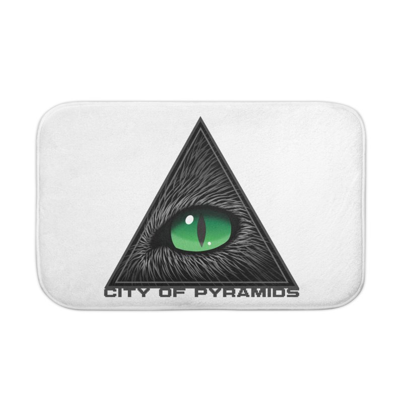 Eyecoic Cat Eye Home Bath Mat by City of Pyramids's Artist Shop