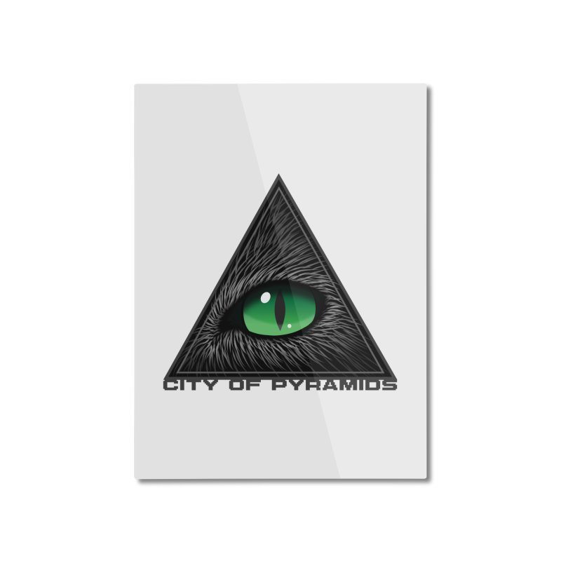 Eyecoic Cat Eye Home Mounted Aluminum Print by City of Pyramids's Artist Shop