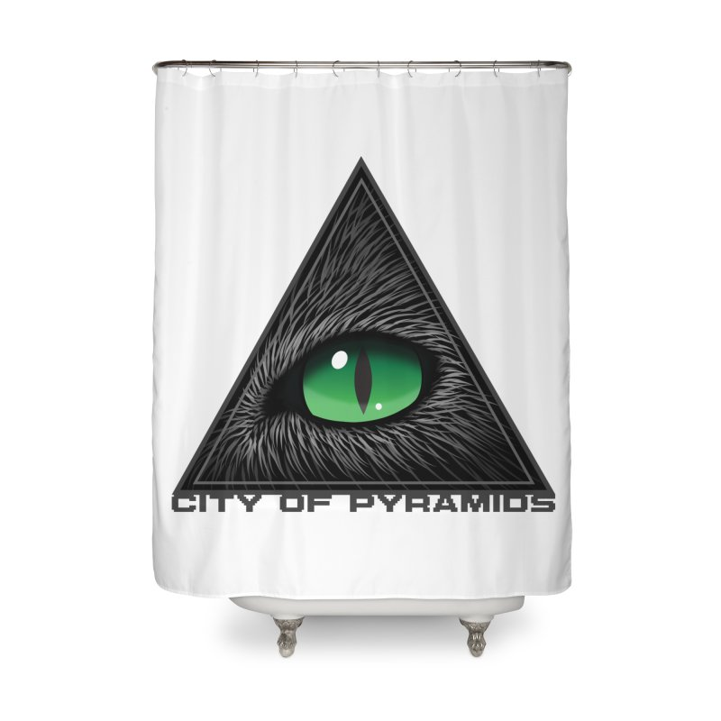 Eyecoic Cat Eye Home Shower Curtain by City of Pyramids's Artist Shop