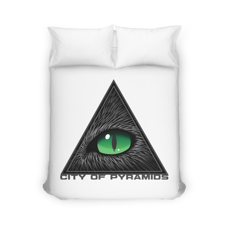 Eyecoic Cat Eye Home Duvet by City of Pyramids's Artist Shop
