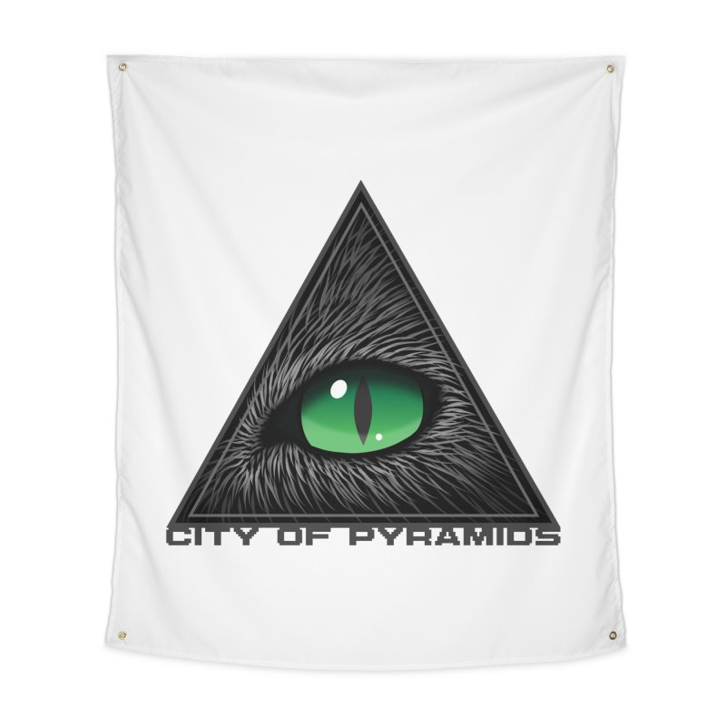 Eyecoic Cat Eye Home Tapestry by City of Pyramids's Artist Shop