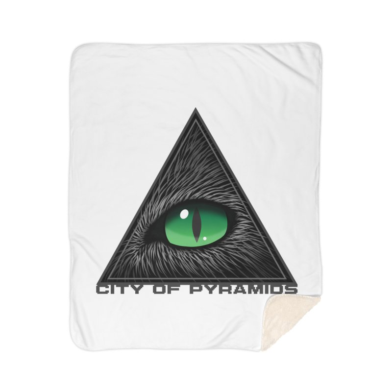 Eyecoic Cat Eye Home Sherpa Blanket Blanket by City of Pyramids's Artist Shop