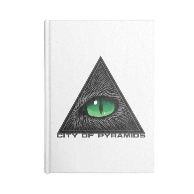 Eyecoic Cat Eye Accessories Lined Journal Notebook by City of Pyramids's Artist Shop
