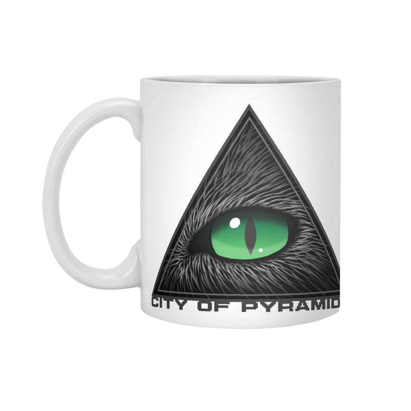 Eyecoic Cat Eye Accessories Standard Mug by City of Pyramids's Artist Shop